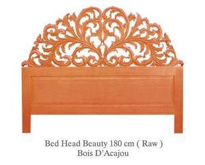DECO PRIVE - tete de lit beauty gold en acajou nature - Headboard