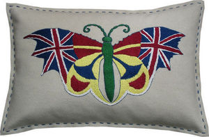 Barbara Coupe - union jack butterfly - Rectangular Cushion