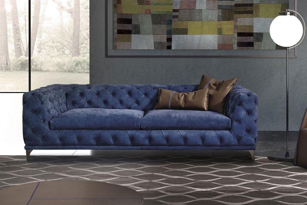 Divano Chesterfield De Padova.Aston Chesterfield Sofa Blue Italy Dream Design
