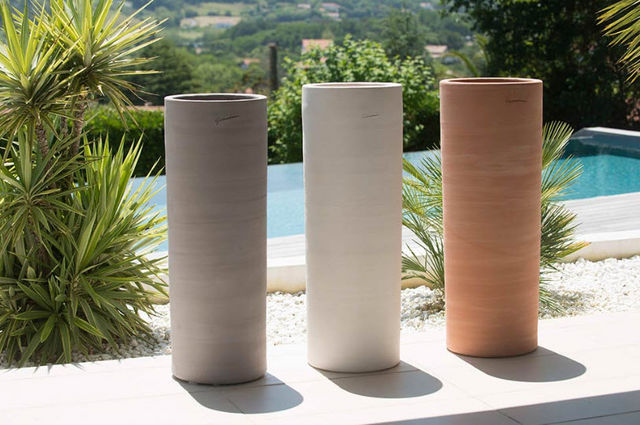 POTERIE GOICOECHEA - Flower container-POTERIE GOICOECHEA-Cylindre