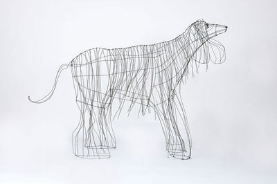 Marie Christophe - Animal sculpture-Marie Christophe-Lévrier afghan