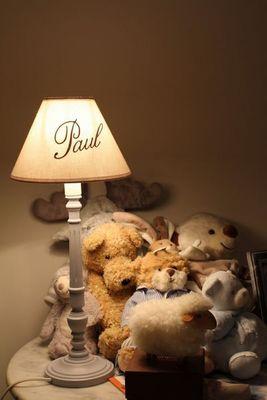 L'ATELIER DES ABAT-JOUR - Children's bedside light-L'ATELIER DES ABAT-JOUR-Lampe personnalisée