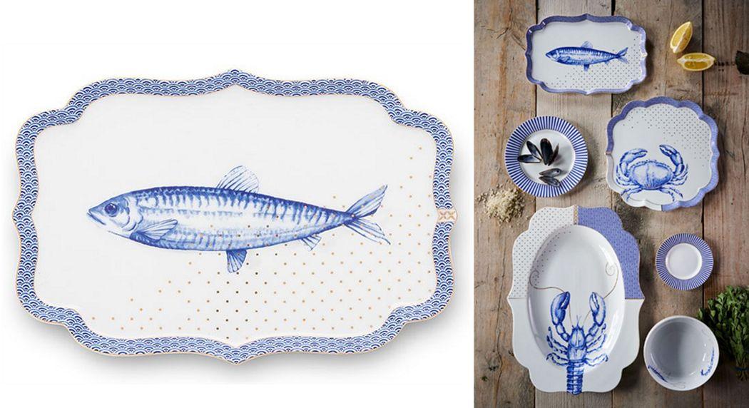 PIP STUDIO Fischplatte Platten Geschirr  |