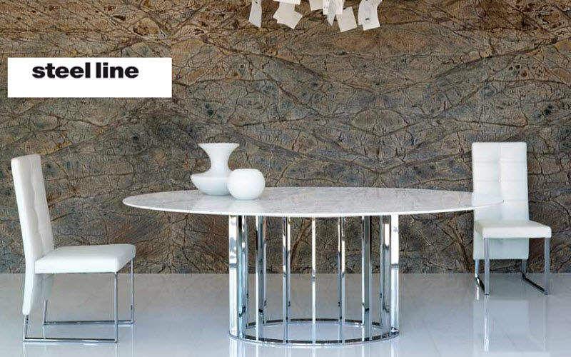 STEEL LINE Ovaler Esstisch Esstische Tisch Esszimmer   Design Modern
