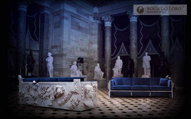BOCA DO LOBO Sofa 3-Sitzer Sofas Sitze & Sofas Wohnzimmer-Bar | Unkonventionell