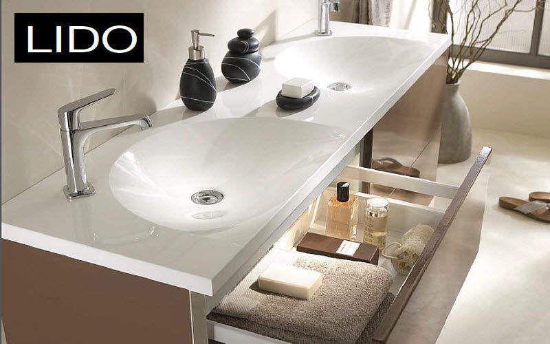 Lido Doppelwaschtisch Möbel Badezimmermöbel Bad Sanitär Badezimmer |