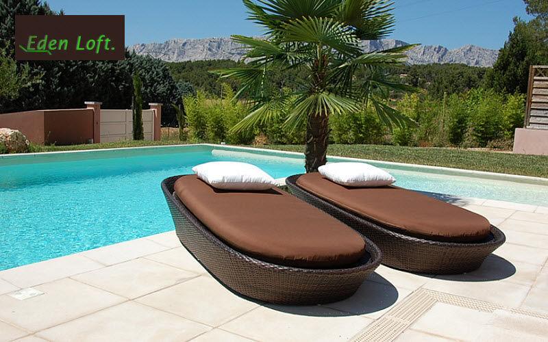 EDEN LOFT Sonnenliege Gartenliegen Gartenmöbel Garten-Pool | Design Modern