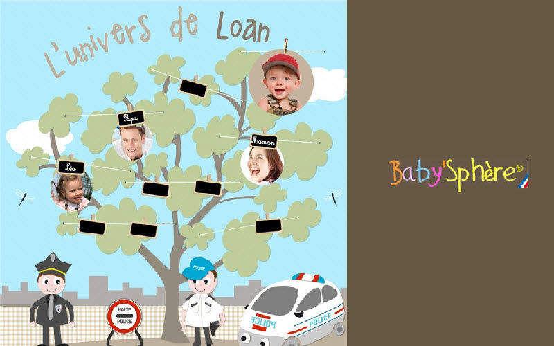 BABY SPHERE Kinder Stammbaum Dekoration für Kinder Kinderecke  |