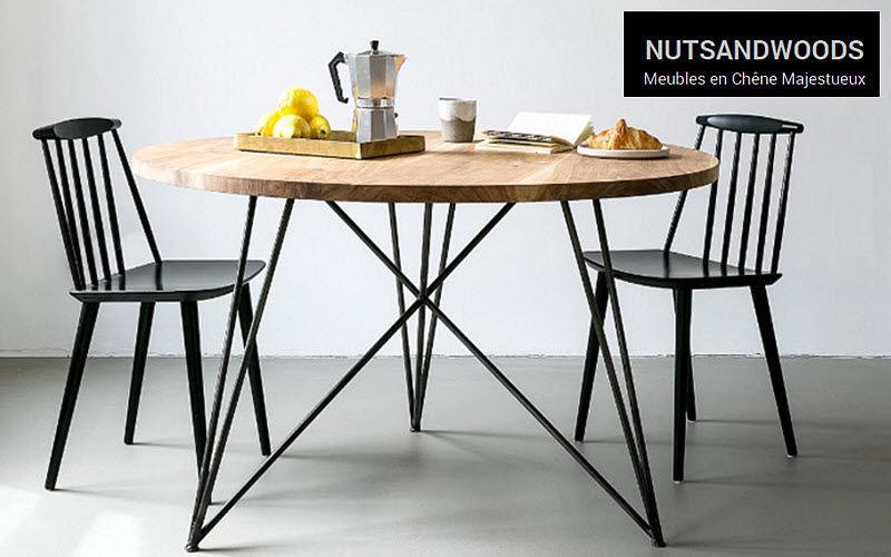 NUTS AND WOODS Runder Esstisch Esstische Tisch   
