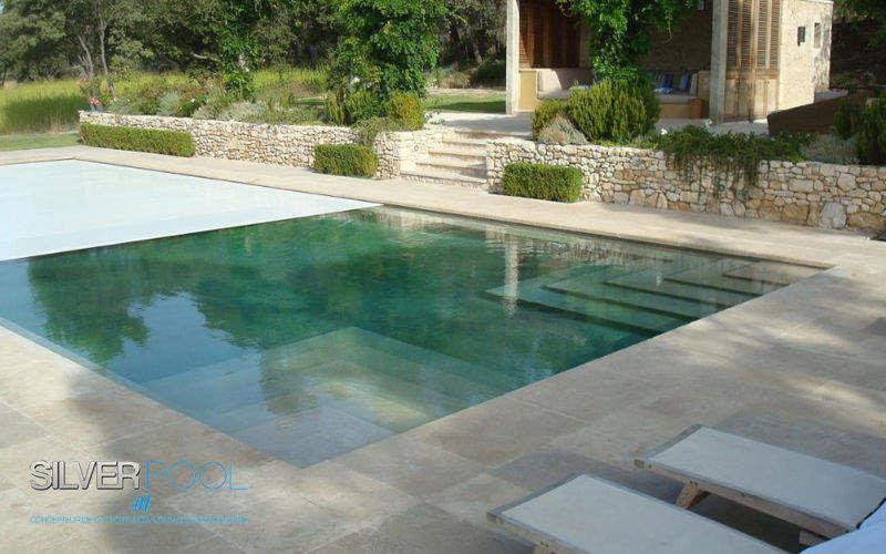 Silver Pool Automatische Swimmingpoolabdeckung Schwimmbadabdeckung Schwimmbad & Spa  |