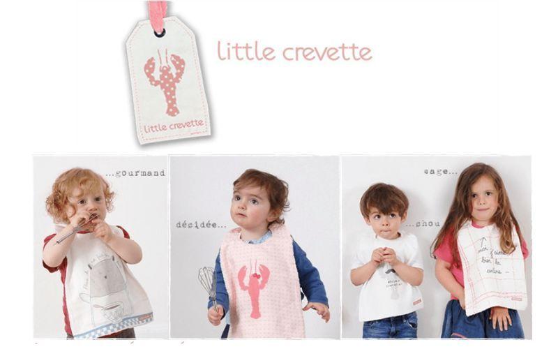 LITTLE CREVETTE Lätzchen Tischzubehör für Kinder Kinderecke  |
