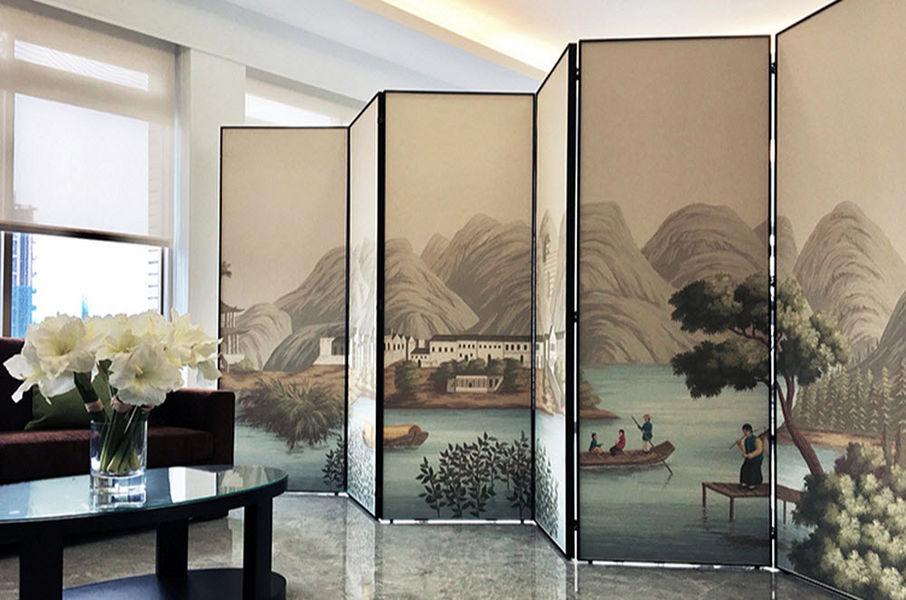 Misha handmadewallpaper Paravent Sichtschutzwand Tisch  |