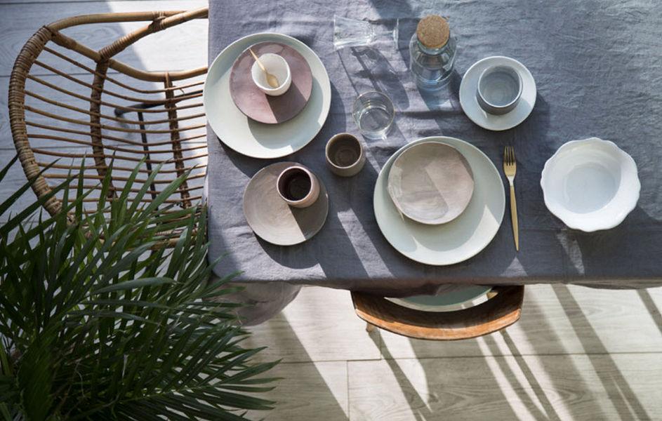 GABRIELLE PARIS Rechteckige Tischdecke Tischdecken Tischwäsche  |
