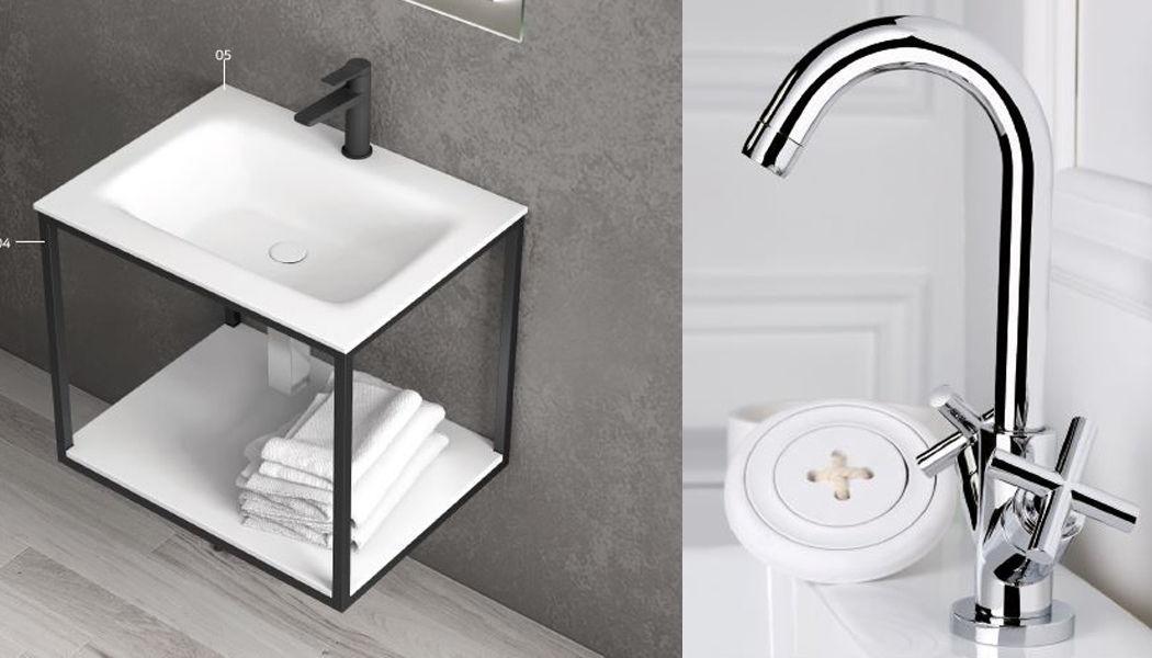 ITAL BAINS DESIGN 3-Loch Waschtisch Mischbatterie Wasserhähne Bad Sanitär Badezimmer | Design Modern