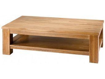 MEUBLES ZAGO - table basse rectangulaire teck blanchi cosmos - Couchtisch Mit Regal