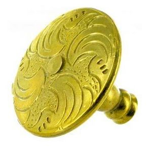 FERRURES ET PATINES - bouton de meuble en bronze grave style louis xiv p - Möbel Und Schrankknopf
