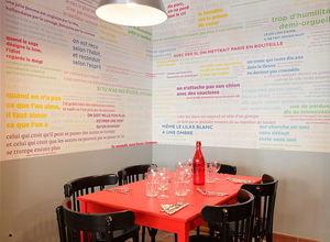 Ohmywall - papier peint proverbes en couleur - Tapete