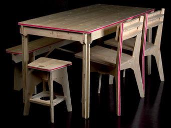béô design - banc en bois écologique design - Rechteckiger Esstisch