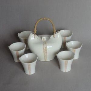 TERRE ET SONGES - mug design faïence blanche - Teetasse