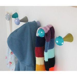 LITTLE BOHEME - patère champignon - gris et turquoise - Kinder Kleiderhaken