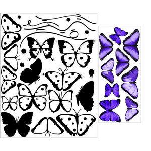ALFRED CREATION - sticker papillons violets - Gummiertes Papier