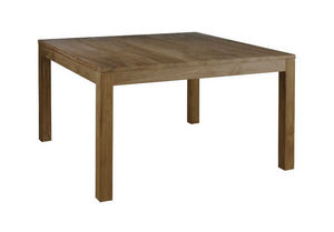 INWOOD - table carrée en teck recyclé grisé maestro 140x140 - Quadratischer Esstisch