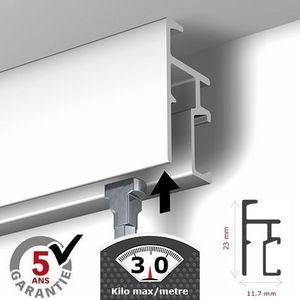 DECOHO - rail newly r20 - 200 cm (max 30kg/m) - Tapetenleiste
