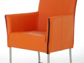 Dutch-Dsign - limburg-orange - Sessel Mit Rollen