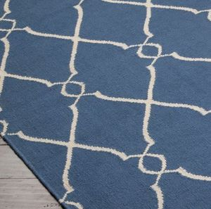 JILL ROSENWALD - fallon : blue & ivory - Moderner Teppich