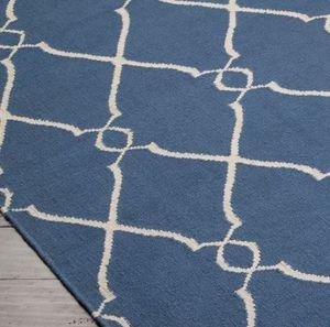 JILL ROSENWALD STUDIO - fallon : blue & ivory - Moderner Teppich