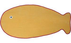 SIRETEX - SENSEI - drap de plage velours forme poisson - Kinder Badetuch