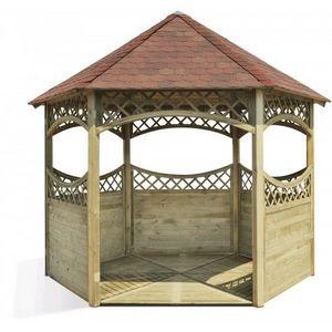 JARDIPOLYS - tonnelle kiosque red en pin jardipolys - Pavillon