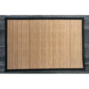 FAYE - set de table en bambou (lot de 6) - couleur - marr - Tischset
