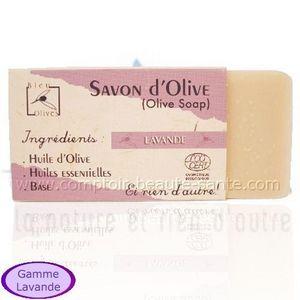 TOMELEA - savon bio olive lavande - 100 gr - bleu olives - t - Seife