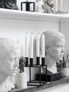 by Lassen - kubus 4, black-- - Kerzenständer