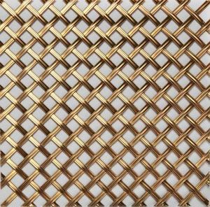 BRASS - g02 003 5x10 - Dekorative Drahtzaun