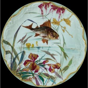 Au Bain Marie - assiette en tôle poisson gardon - Deko Teller