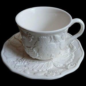 Au Bain Marie - tasse à déjeuner blanc cassé uni - Teetasse