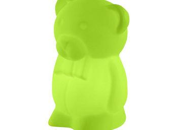 Slide - junior - lampe à poser ourson vert h40cm   lampe à - Tischlampen