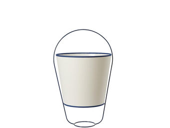 Forestier - bucket - lampe blanc/bleu h48cm | lampe à poser fo - Tischlampen