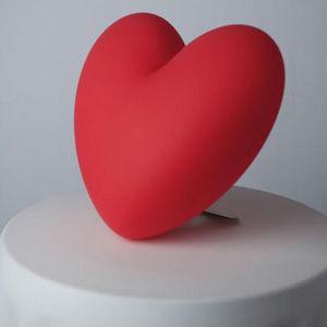 Slide - love - lampe à poser coeur rouge h40cm   lampe à p - Tischlampen