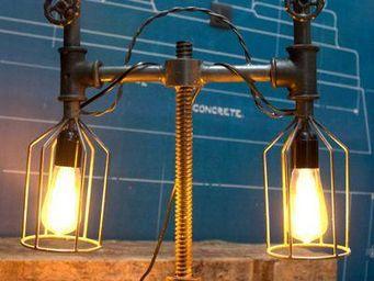 COMPAGNIE DES AMPOULES A FILAMENT - lampe tube-compteur 2 - Tischlampen