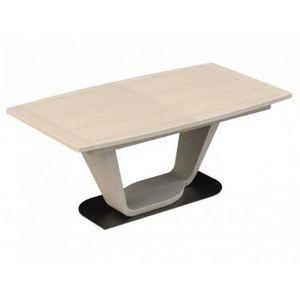 Girardeau - table tonneau bois macao - Rechteckiger Esstisch