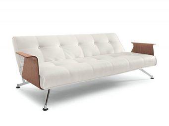 INNOVATION - canape lit design clubber blanc accoudoirs innovat - Bettsofa