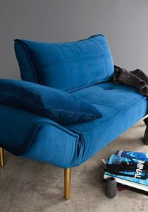 INNOVATION - canape lit design zeal convertible 200*70 cm bleu - Bettsofa