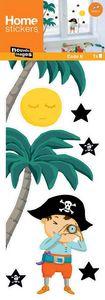 Nouvelles Images - sticker fenêtre pirate aux étoiles - Kinderklebdekor