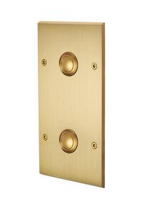 MODELEC - interrupteur faã§ade double verticale ã push - champagne satinã© - Doppel Schalter