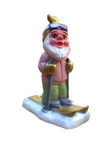 HIRSCHGLÜCK MADE IN GERMANY - skiing gnome - Tischdekoration