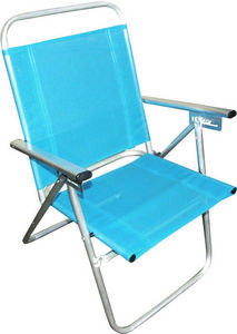 HEVEA - fauteuil inclinable de plage en aluminium camelia  - Gartensessel