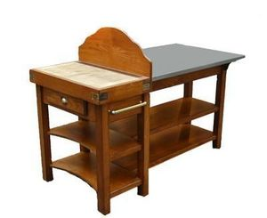 Maison Strosser - table etal inox - Küchenblock